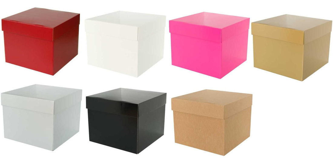 glossy luxury gift boxes with solid color