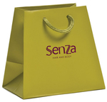 trapezoid luxury paper bags with custom logo