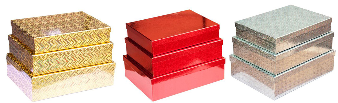 luxury gift boxes with hologram finishes