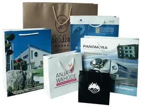 custom made laminated paper bags