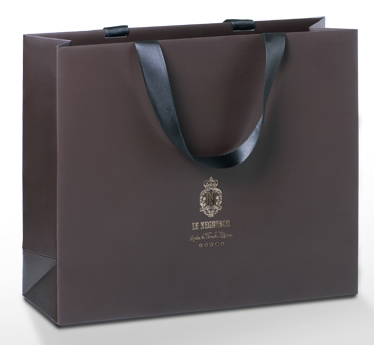 luxury paper bags with ribbon handles