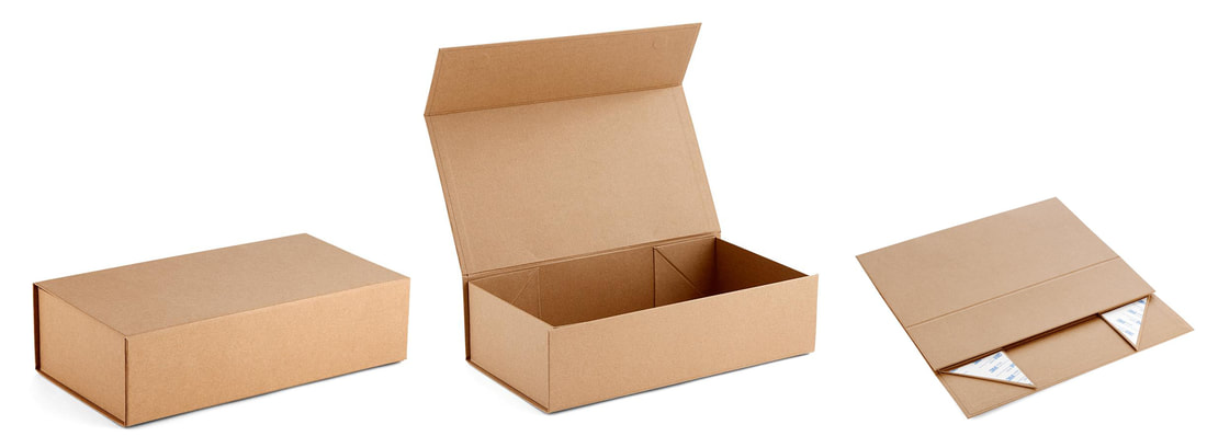 kraft collapsible rigid gift boxes