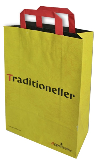 White Kraft Paper Bags With Printed Logo