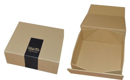 foldable kraft rigid boxes with logo