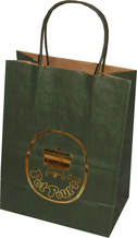 Twisted Handle Brown Kraft Paper Bags With Hot Stamping Logo