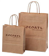 Kraft Handle Bags With Printed Logo